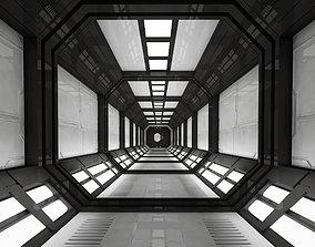 SCI FI INTERIOR SCENE SPACE SHIP 3D asset
