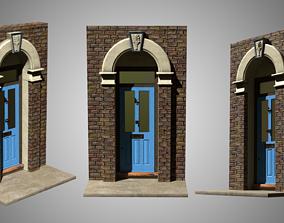 Suburban House Doors 03 3D
