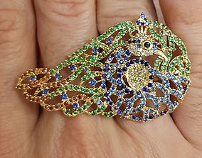 Peacock Ring 2 pieces Chank and Body 3D print model