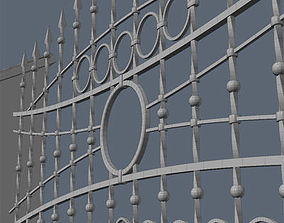 Fence for exterior visualization 3D