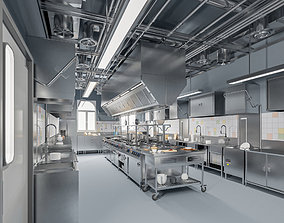 3D model Commercial Kitchen 2