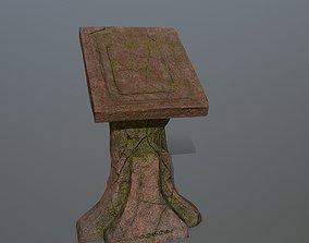 lectern 3D asset low-poly