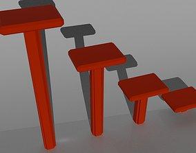 3D model Low Poly Steps