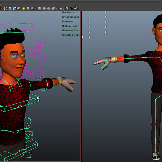 Chararter rigging for short animation project