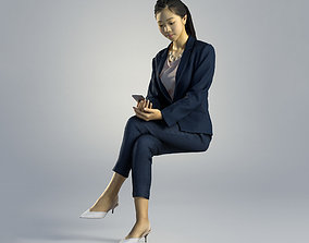 3D model Woman Emily Business Sitting 002