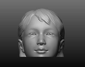 Girl head mannequin 3D print model