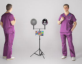 3D asset Surgical doctor with a stethoscope 79