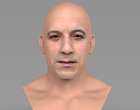 Vin Diesel bust ready for full color 3D printing