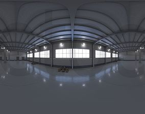 HDRI - Industrial Warehouse Interior 9 3D model