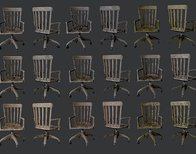 10 Antique Desk Chair Game Ready 3D model