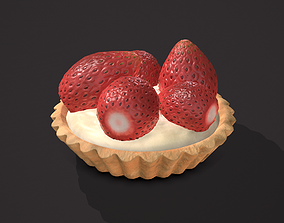 3D model Simple Strawberry Tart