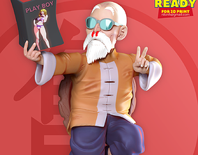 3D printable model Master Roshi - Dragon Ball Fan art