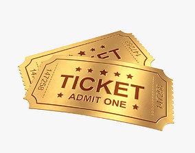 3D Golden ticket