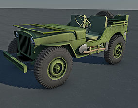 Jeep Willys Military Vehicle 3D model