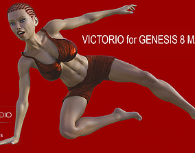 Victorio for Genesis 8 Male 3D model animated