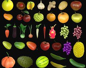 Asset - Cartoons - Food - Fruits 3D model