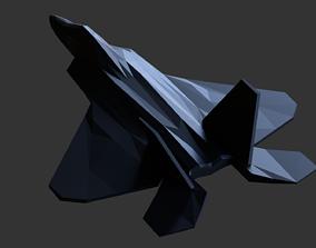 geometric-shape F22 Raptor Lowpoly 3d Print