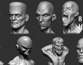 3D Various Heads