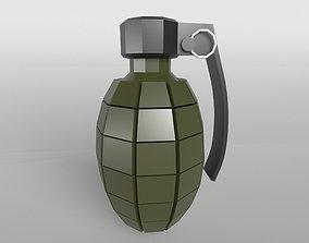 Grenade v1 002 3D model realtime