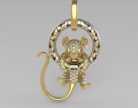 3D print model Mouse Pendant