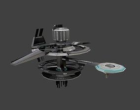 Low poly Space Station 3D model