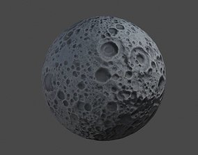 Cartoon Moon 3D model realtime