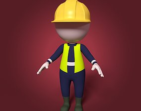 Cartoon Stickman 3D model