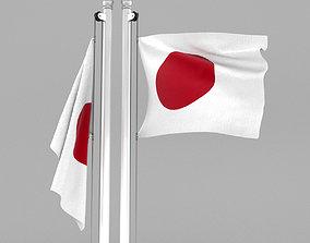 3D model Flag of Japan