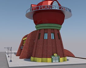 building planet express futurama 3D