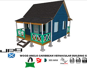3D model Wood Anglo Caribbean Vernacular Building 02