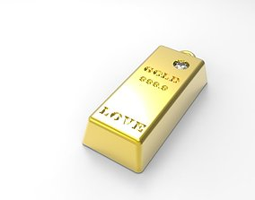3D printable model GOLD BAR