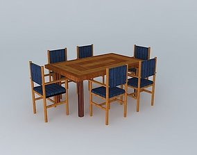 3D model Dinng Table With Chairs