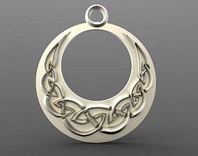 Celtic moon pendant 3D print model