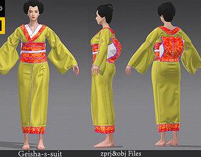 The-kimono-suit-geisha-suit-Marvelous-Designer-project 3D