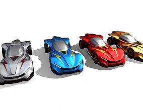 High Speed Racing Car Latest Design 3D