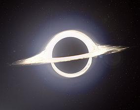 3D asset Black Hole Gargantua Interstellar