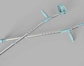 Forearm Crutches 3D