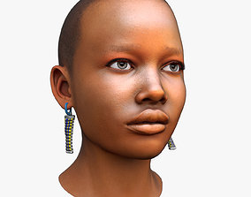 3D asset African Woman Head Game Ready