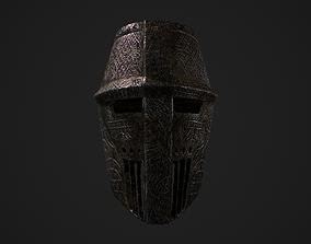 3D model low-poly Medieval Helmet