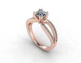 Engagement Diamond Ring Statement Ring 3D print model