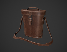 3D model Vintage Leather Binocular Bag
