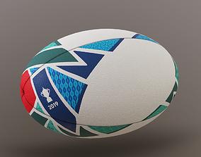 Rugby Ball Tokio Cup 3D asset
