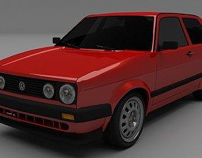 3D VW Golf Mk 2