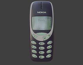 Nokia 3310 Blue 3D model