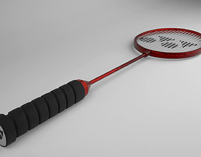 3D asset Badminton Racket