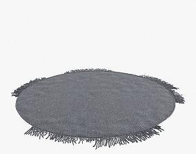3D model custom made round modern carpet