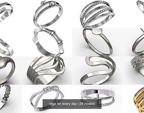 3D rings for every day
