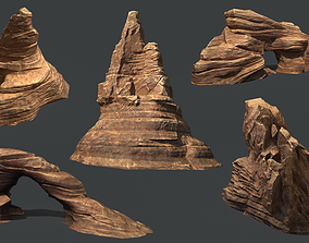 3D asset Red Rock Sandstone Pbr Collection