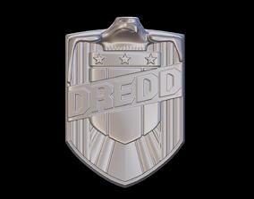3D printable model Judge Dredd badge