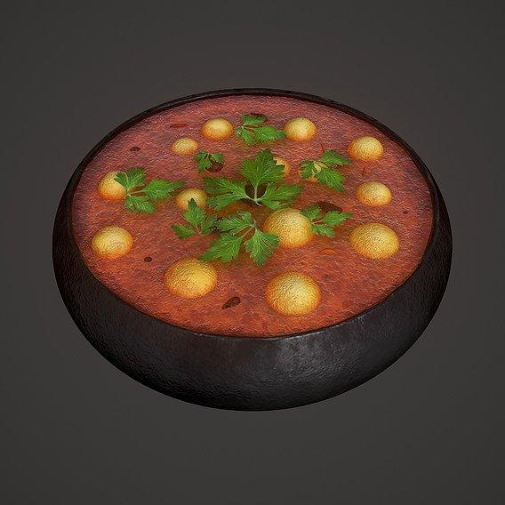 3D Medieval Tavern Soup